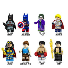 PG8125 Single Sale Super Heroes Captain America Black Laurea Lodge Education Figures  Building Blocks Toys Gift For Children super heroes single sale doc brown marty mcfly set 71201 back to the future figures building blocks children toys gift kf197