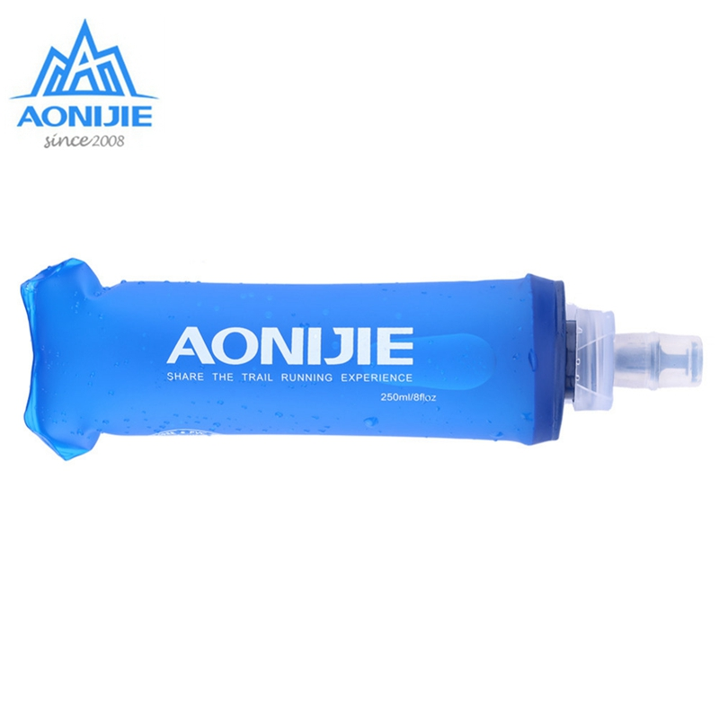 AONIJIE TPU Soft Drink Flask BPA Free Folding Water Bottle Sport Drinkwear For Outdoor Camping Trail Running Jogging 250ml 500ml