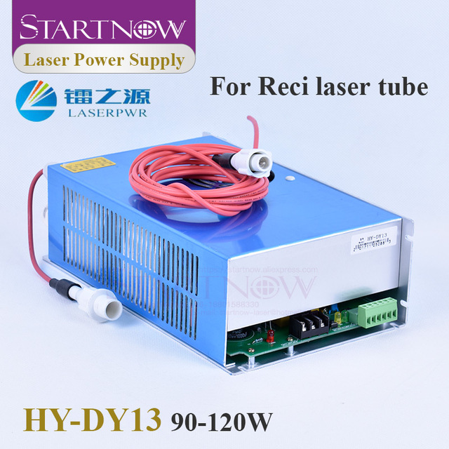 Startnow fuente de alimentación láser DY13, 90W, 120W, CO2, para RECI W2, T2, V2, W4, T1, T4, 90W, tubo láser de 100W, piezas de máquina de corte láser HY DY13