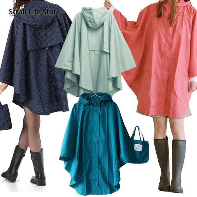 Japanese Rain Poncho Raincoat Women Adult Outdoor Waterproof Hiking Travel Windbreaker Women Rain Jacket Casacas Para Mujer Gift