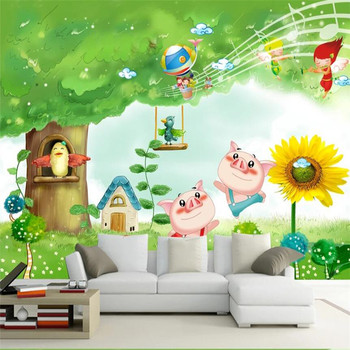 Large 3D wallpaper mural custom cartoon children's room background wallpaper mural custom 3d mural children room wallpaper bedroom background wall mural cartoon candy cake shop wallpaper mural