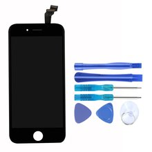 Mobile Phone Dsplay Screen For iPhone 6 4. Inch LCD Touch Display Assembly Digitizer Screen Replacement 162mm 85mm xwt502 162 85gps navigation vehicle 6 inch resistive touch screen display on the outside flat screen handwriting