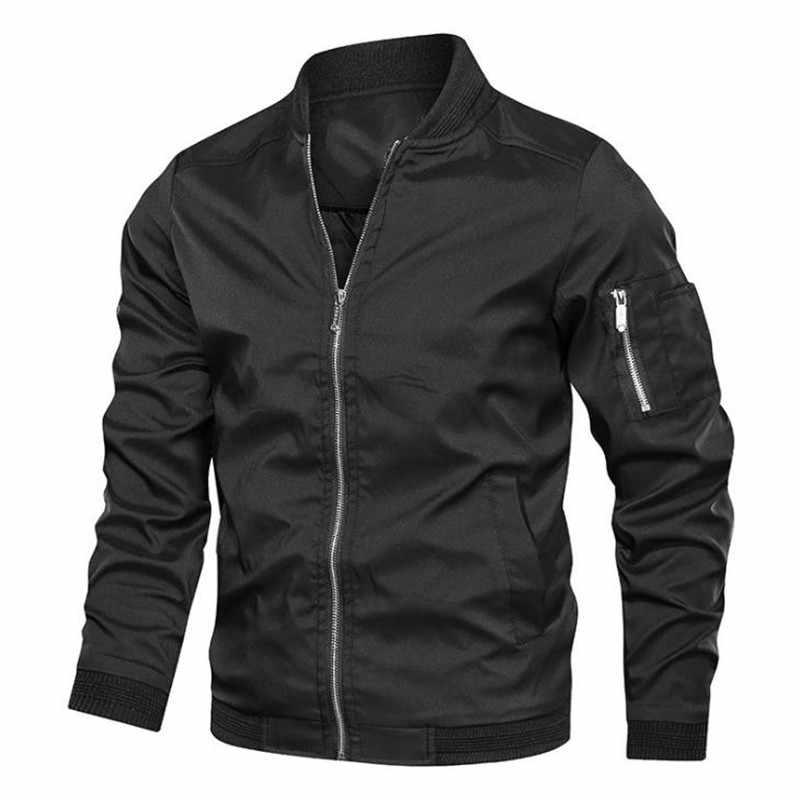 2020 Herfst Winter Nieuwe Heren Casual Jas Mode Zip Up Slim Fit Caots Mannelijke Trend Baseball Bomber Jacket Man Merk overjas