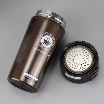 HOT Premium Travel Coffee Mug Stainless Steel Thermos Tumbler Cups Vacuum Flask thermo Water Bottle Tea Mug Thermocup