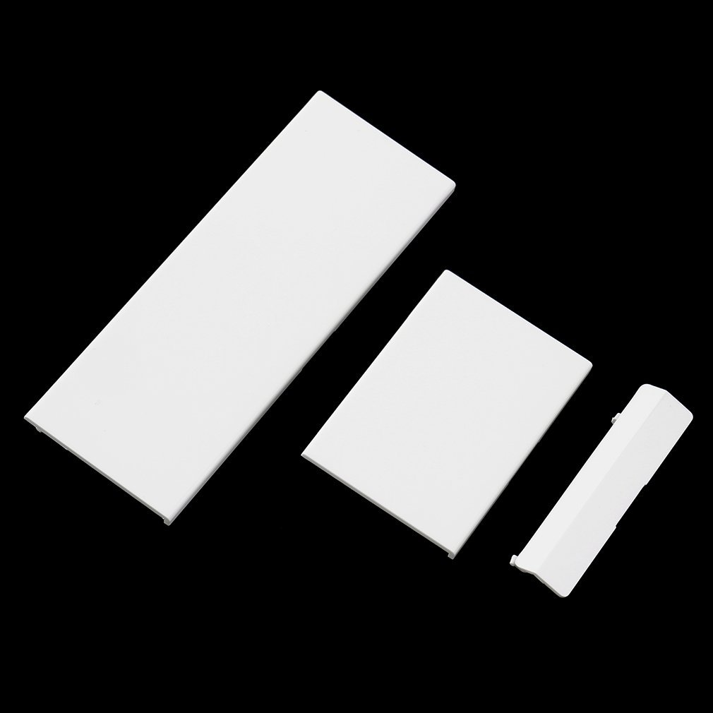 3 Pcs /set White Door Slot Cover Bezel Lid Part For Wii Console System Hot New