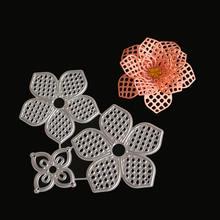 Металлические Вырубные штампы с 3d полыми цветами для рукоделия