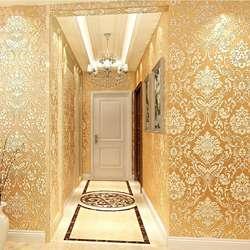 Нетканые обои в европейском стиле роскошный рельефный поворотный экран крафт обои спальня гостиная Настенные обои клейкий рис