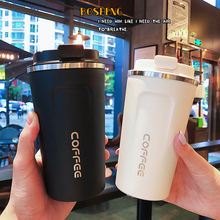 Handy Stainless Steel Coffee Cup Double Stainless Steel Vacuum Cup Outdoor Leisure Portable Car Thermos Cup Travel Thermo Cups germany aaron flow cup viscometer stainless steel zahn 4 for printing