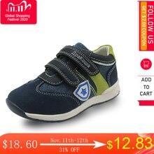 Apakowa Frühling Herbst Casual Schuhe PU Leder Jungen Atmungsaktive Turnschuhe Doppel Haken & Loops Design Casual Schuhe für Kinder