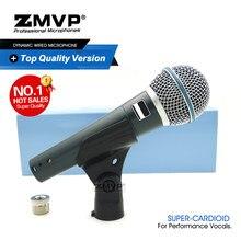 Grau a profissional beta58a desempenho vocais ao vivo dinâmico microfone com fio beta 58a mic para estúdio de estágio karaoke voiceover