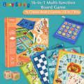 Bebé brillante 16 en 1 Juego de mesa para niños, inteligencia de ajedrez multifuncional, juguete de Educación Temprana, juego de estrategia, regalo