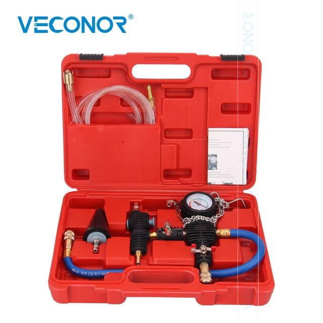 Car Water Tank Pressure Gauge Leak Detector Water Coolant Antifreeze Vacuum Replacement Filler Tool
