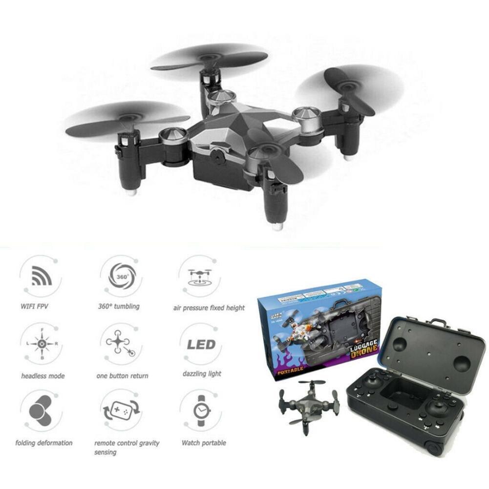 Nuevo equipaje mini drone WIFI con cámara mini plegable quadcopter control remoto en Tiempo real Cámara aérea