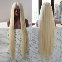 Full Lace Wig Brazilian Unprocessed Virgin Hair 40 Inches Lond Length Blonde Wigs For Black Women DJSBeauty