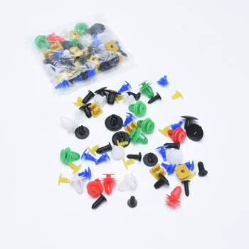 Multi Sizes 50 Pcs Auto Fastener Clips Universal Mixed Car Bumper Clips Retainer Car Fastener Rivet Door Panel Liner For All Car image