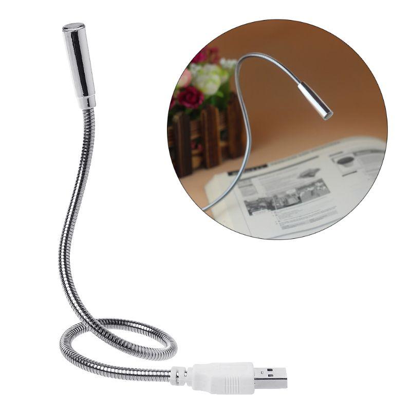 Usb flexível luz teclado lâmpada recarregável ajustável mangueira noite iluminação plug and play para computador computador desktop livro