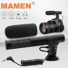Mamen microfone para câmera dslr, condensador de vídeo para vlogs, 3.5mm de plugue, para câmera de computador, nikon, canon