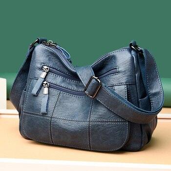 High Quality Leather Luxury Handbags Women Bags Designer Shoulder Crossbody for 2020 Bolsa Feminina Sac A Main - discount item  48% OFF Women's Handbags