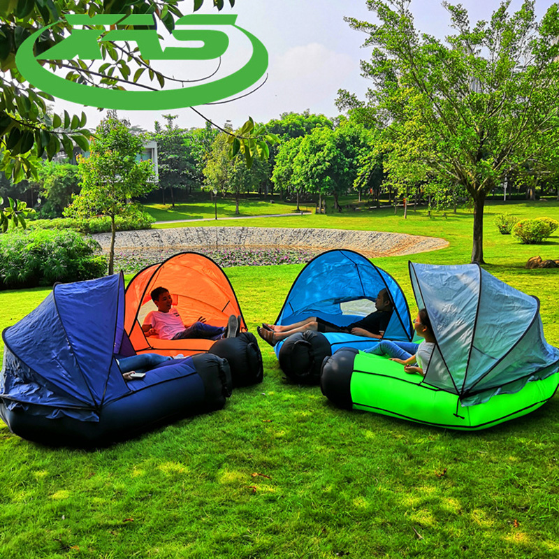 Inflatable Sofa Bed Outdoor Lazy Beach Sleeping Bag Easy To Carry Air Mattress Picnic Portable Pad Camping Mat