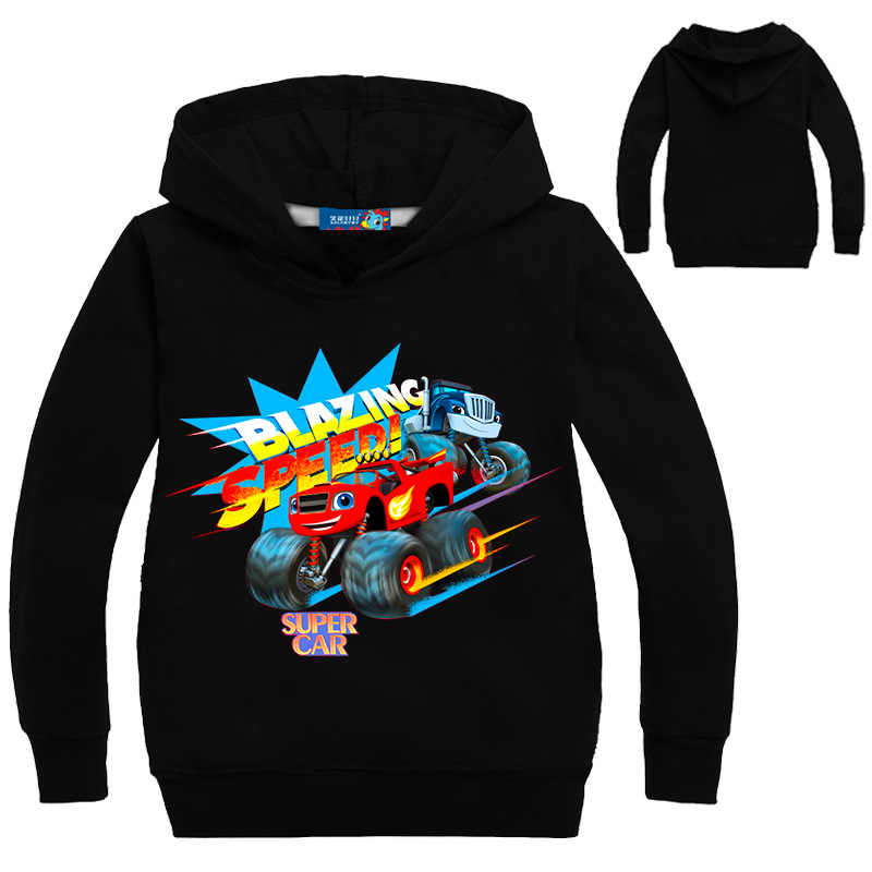 Blaze Auto Kleding Kids Chothes Kinderen Jongen Meisje Hoodies Jongens Jas Monster Machine Kids Jongens Blazing Speed Cartoon Sweatshirts