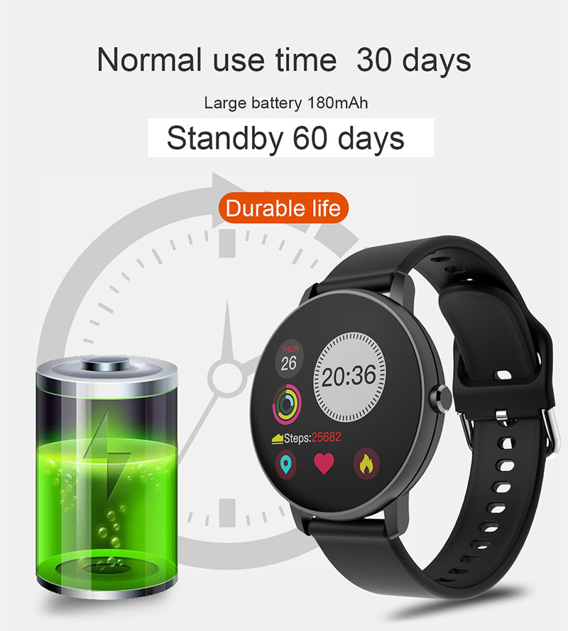 H4b8b9e994bde458e976681e8ae1c0b1cb 2020 Full Touch Smart Watch Heart Rate Fiteness Tracker Blood Pressure