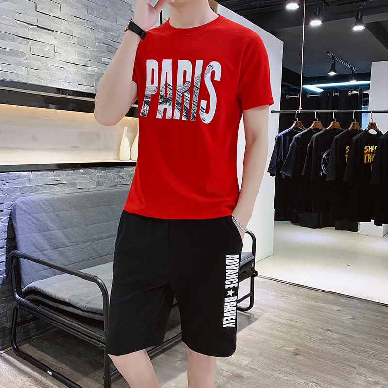 Teenager Xue Sheng Kuan New Products Summer Sports Leisure Suit Large Size Sports Clothing Men's