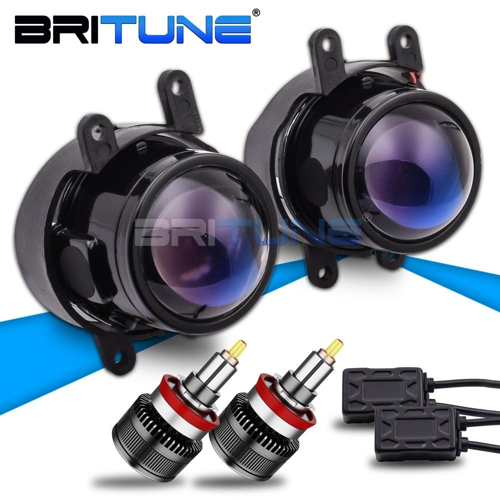 Phares antibrouillard pour Toyota Camry/Yaris/Corolla/Avensis/Peugeot/Suzuki/Lexus IS250/Citroen bi-xénon lentille H11 LED accessoires Tuning