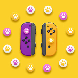 Image 2 - For Nintendo Switch JoyCon Rocker Cap Handle Cat Claw Left and Right Split Cat Claw Button Cap Switch Handle