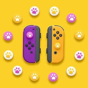 Image 2 - Pour Nintendo Switch JoyCon bouchon à bascule poignée chat griffe gauche et droite fendu chat griffe bouton capuchon interrupteur poignée