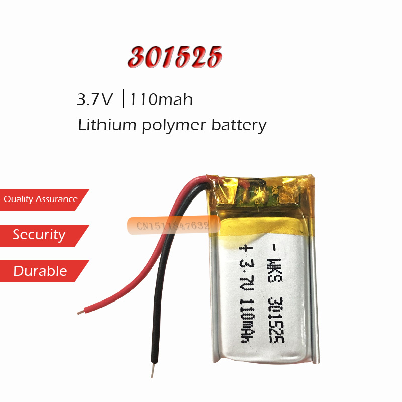 1 шт. 3,7 В 110 мАч литий-ионный аккумулятор 301525 литиевая полимерная аккумуляторная батарея для GPS локатора MP3 MP4 bluetooth динамик светодиодный свет...
