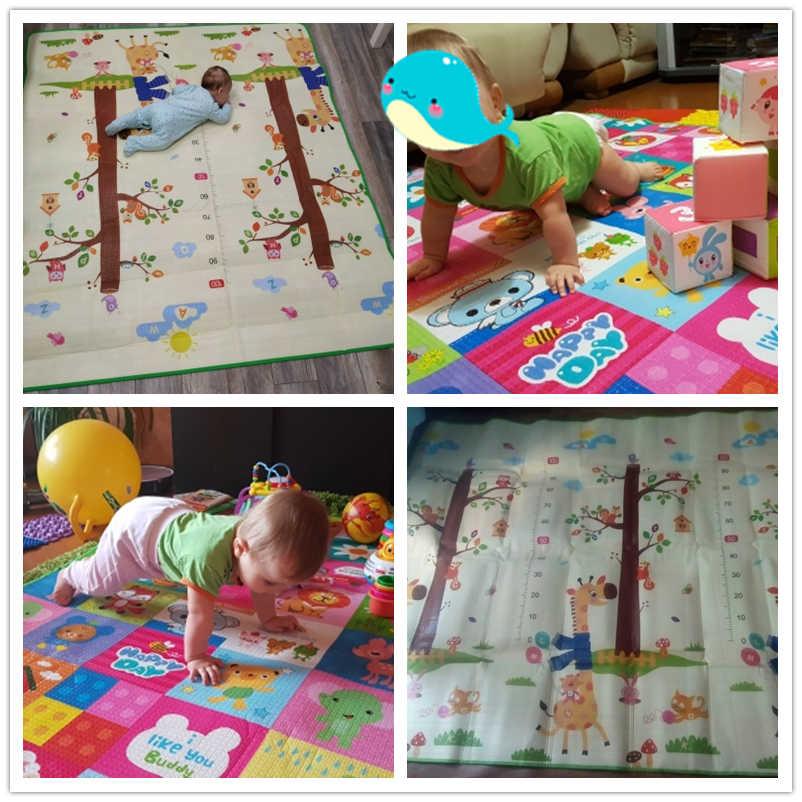 Bebek parlayan bebek oyun matı kalınlaşma çevre dostu çocuk oyun mat EPE 200*180*1.5CM karikatür kaymaz halı oturma odası Mat