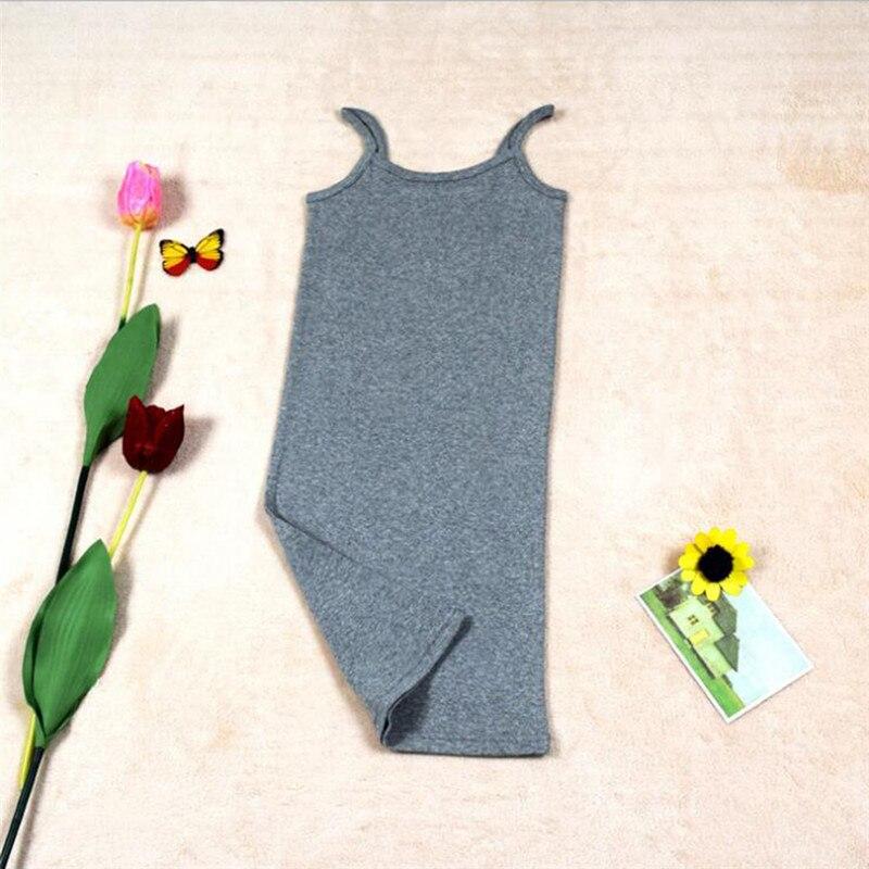 Новинка, Женская эластичная кофточка на бретельках, Длинный топ на бретелях, Мини Короткое платье, летнее повседневное сексуальное платье без рукавов для женщин - Цвет: A-Gray