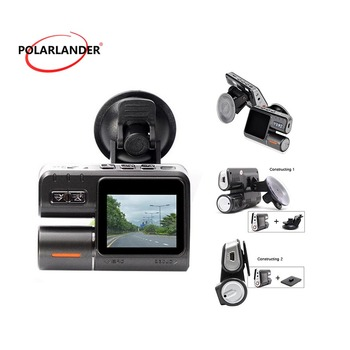 Poetable I1000 Car DVR Dual Lens Camcorder Dash Cam Rear View Camera for Vehicle in Dash Night Vision 170 Degree Wide-View-Angle image