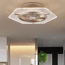 Современные Невидимый спальни потолочный вентилятор люстра творчески