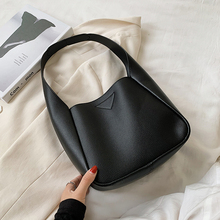 Small PU Leather Hand Bags For Women 2020 Simple Solid Color Shoulder Handbags F