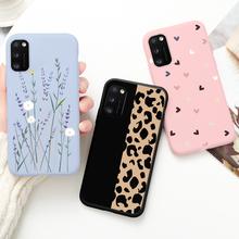 Леопардовый чехол для телефона Samsung Galaxy A41, a41, чехол с милым котом, чехол для Samsung A 41, a 41, A 41, чехол для телефона с принтом пламени, бабочки, цвет...
