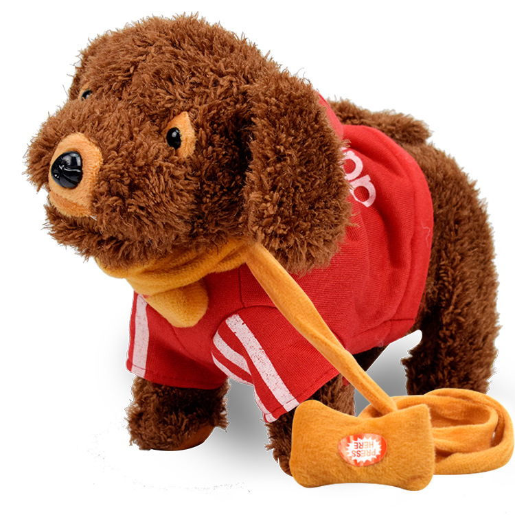 Children Plush Toys Electric Dog 38 Music Poodle Children Walk Singing Dancing Music Guyed