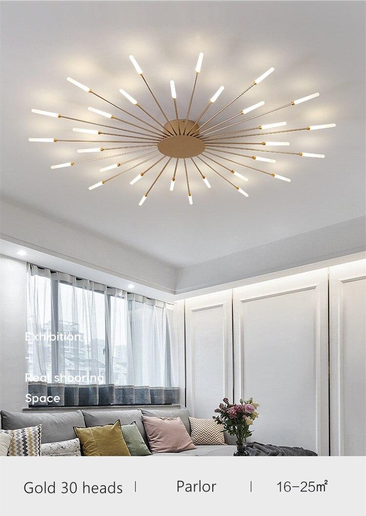 Nova luz do candelabro moderno foyer estudo