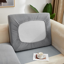 Airldiane Solid Color Slipcover Sofa Seat Cushion Cover Sofa Covers for Living Room Removable Elastic Seat Chair Cover Furniture
