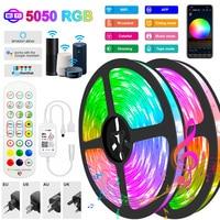 WIFI 5050 LED Streifen 5M-30M RGB LED Streifen Licht Bluetooth Wasserdichte LED Lampe Band Alexa Band licht für TV Hintergrundbeleuchtung Desktop