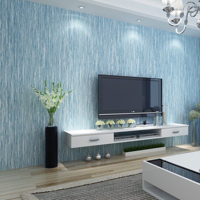 Northern European-Style Plain Color 3D Non-woven Wallpaper Living Room Bedroom Sofa TV Background Simple Solid Color Engineering