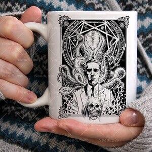 Темный миф Cthulhu Lovecraft кофе изменяющиеся кружки цветная чашка с кружкой для молока лучший подарок для ваших друзей