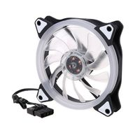 1Set DC 12V 120MM Computer PC Laptop Case Cooling Fan Adjustable RGB LED Light Cooler