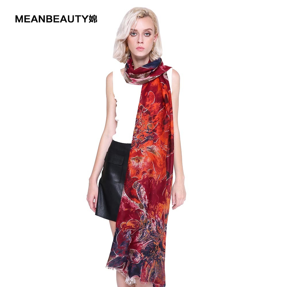 Fashion Scarf Night Pattern Female Pashmanna Cotton Gown Mink-Gauze Spring-Roll Queen