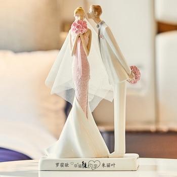 Modern Couples Art Sculpture Decorations Statue Wedding Figure Figurine Creative Resin Craft Home Decoration Wedding Gift R4894