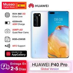 Глобальная версия Huawei P40 Pro 8G 256G Kirin 990 5G смартфон quad camera 50MP 6,58 'экран SuperCharge 40W