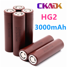 20PCS 100% Original Large Capacity HG2 18650 3000mah Rechargeable Battery For HG2 Power High Discharge Big Current