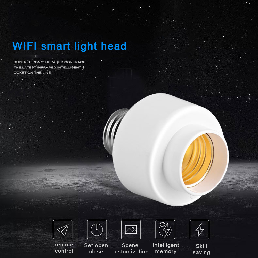 E27 Smart Light Bulb Head Base Intelligent Lamp Head Wifi Remote Switch Voice Control Compatible with Alexa Google Home-in Home Automation Modules from Consumer Electronics