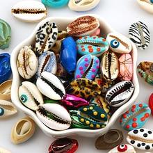 10 шт. натуральный в виде морских ракушек с украшением из цветов, наряд для печати в виде ракушки украшение для самостоятельного изготовлени...
