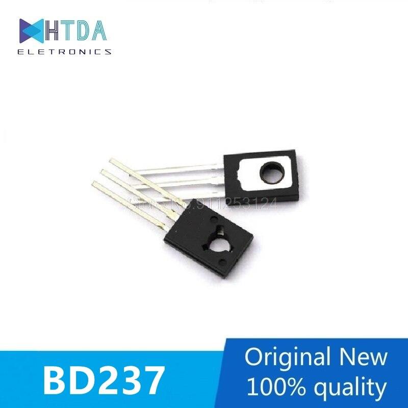 30 шт./лот BD237 2A 100V Силовые транзисторы NPN TO-126 в наличии